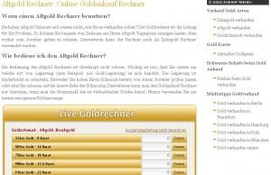 Goldankauf bei www.zahngold-altgold.info