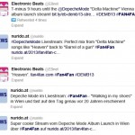 fan4fan.com bringt Depeche Mode Album Launch Event in Wien online via Electronic Beats by Telekom